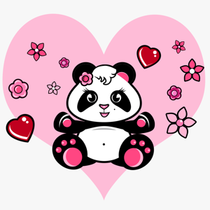 Cute Panda Stickers Pack! app