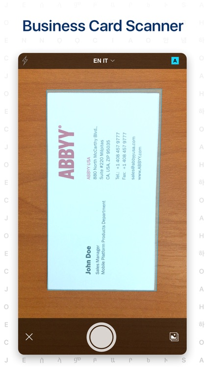 Business Card Scanner by ABBYY