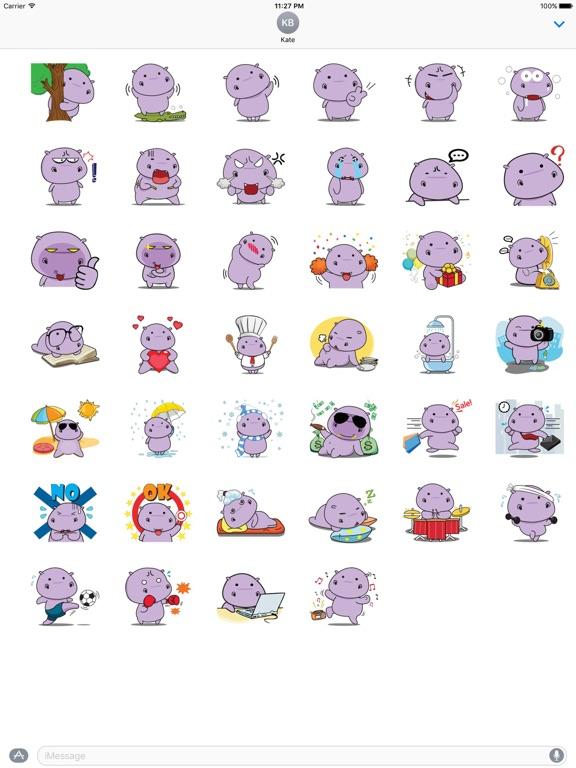 Chubby Hippopotamus Sticker screenshot 4