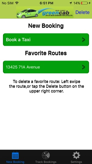Delta Surrey Green Cab on the App Store