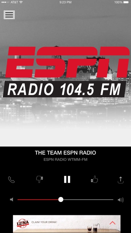 104.5 The Team ESPN (WTMM) screenshot-2