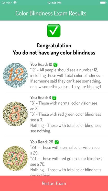 Color Blindness Exam