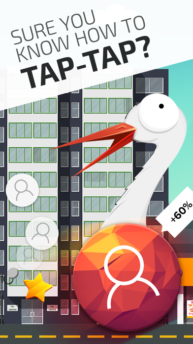 Clicker: tap, stork, people