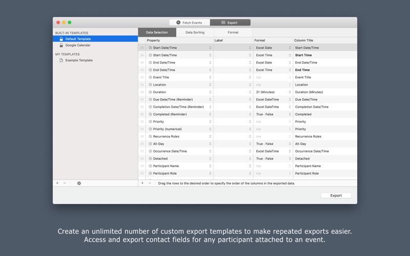 Export Calendars Pro Screenshots