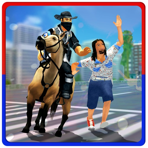 Horse Police Crime Chase