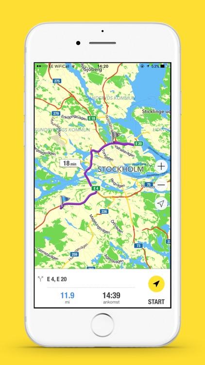 Eniro Navigation - Offline GPS screenshot-3