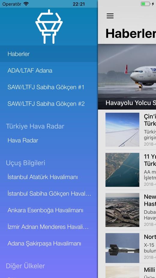 Hava Trafik Kontrol - Live ATC App 截图