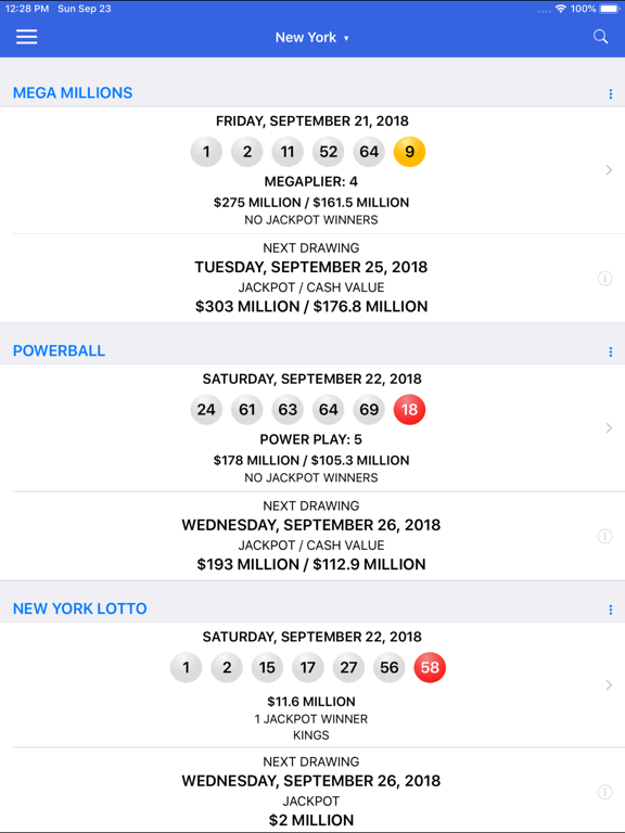 Lotto Results + Lottery in US | App Price Drops