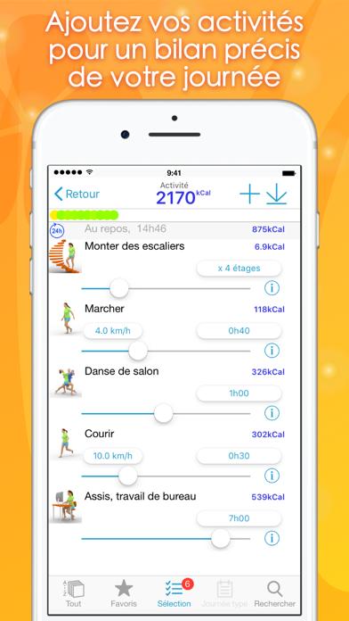 Screenshot #3 pour Calories Minute Access
