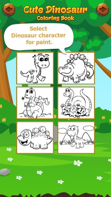 Cute Dinosaur Coloring Book