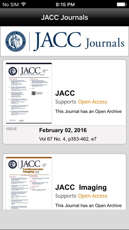 JACC Journals screenshot-1