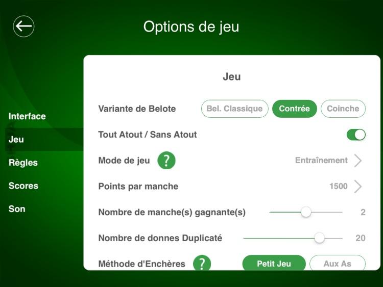 Jeu de Belote SHUA for iPad screenshot-4