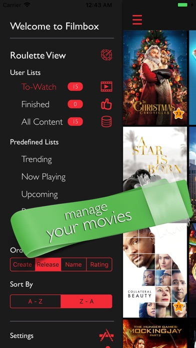 Filmbox: Smart Movie Manager Screenshots