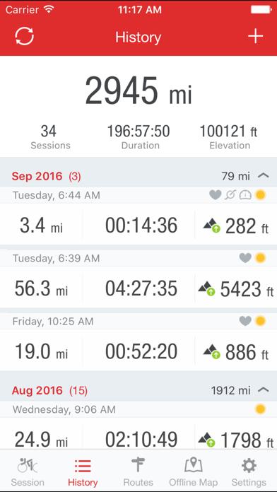 Runtastic Road Bike GPS PRO Screenshots