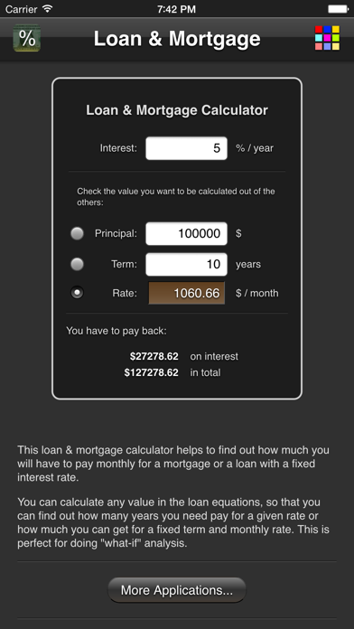 Loan Mortgage review screenshots