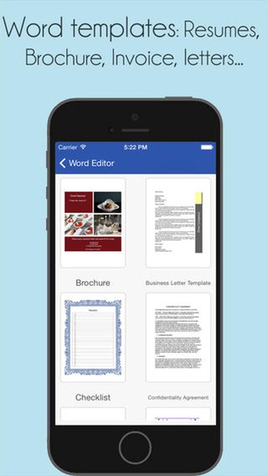 Office Docs - for Word Editor screenshot one