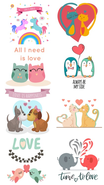 Love Quotes with Lovely & Cute Animal Couple Pack screenshot-4