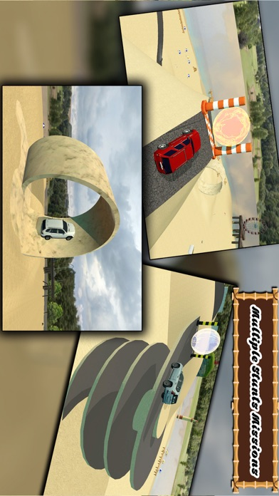 Beach SUV jeep Stunts Driving screenshot