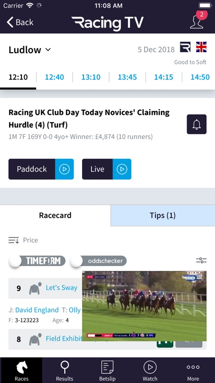 Racing TV – Live horse racing screenshot-4