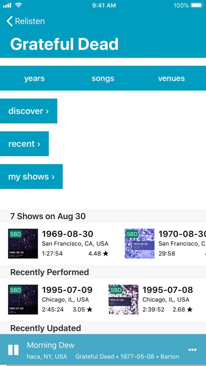 Relisten — all live music screenshot-3