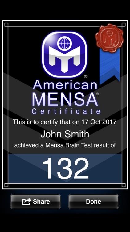 American Mensa Brain Test screenshot-4