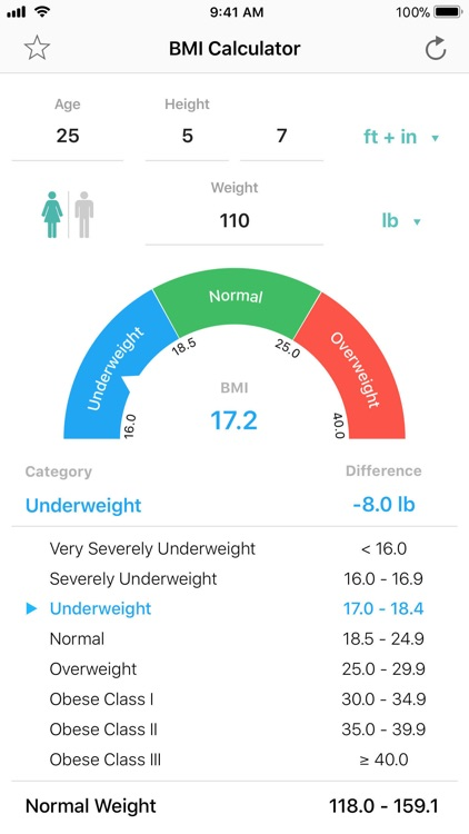 BMI Calculator – Pro