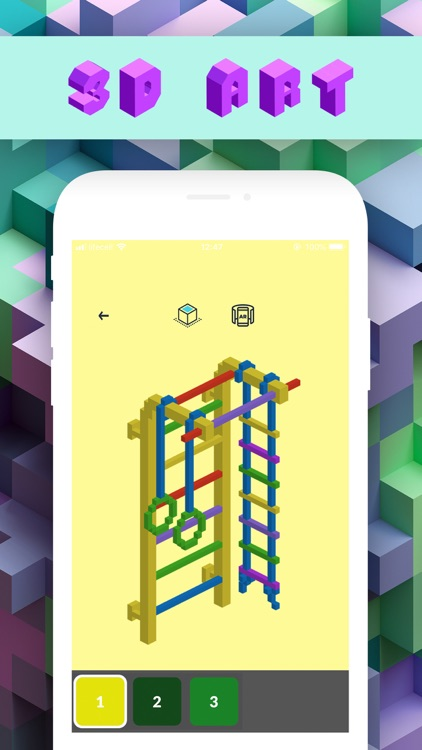 3d Number Coloring: Voxel Art by Danylo Herasymovych