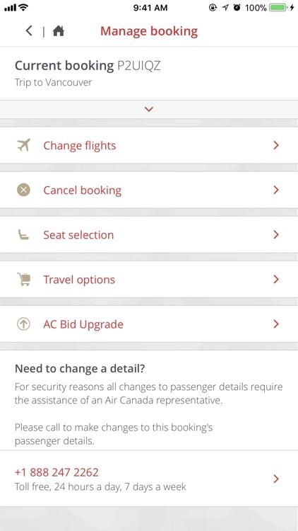Air Canada screenshot-4