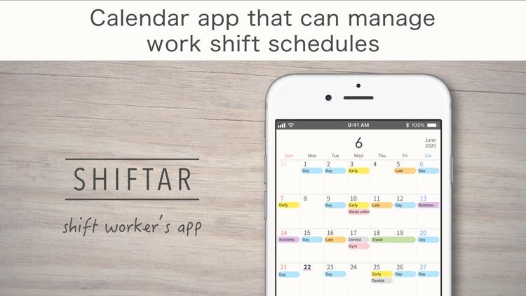 SHIFTAR: Shift Worker Calendar