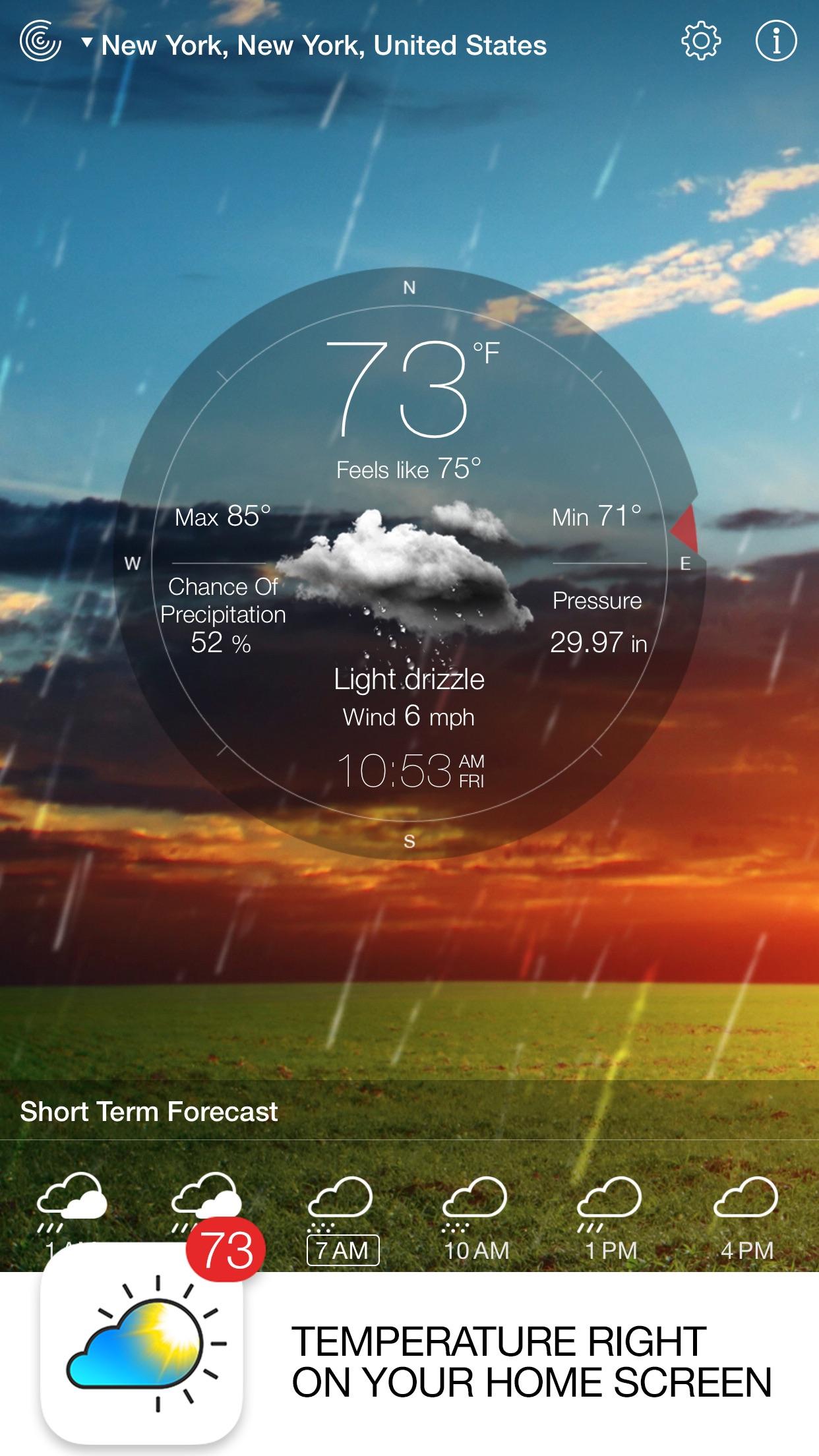 Weather Live - Local Forecast Screenshot