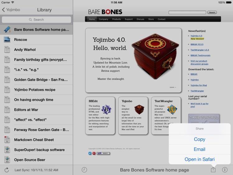 Yojimbo for iPad screenshot-3