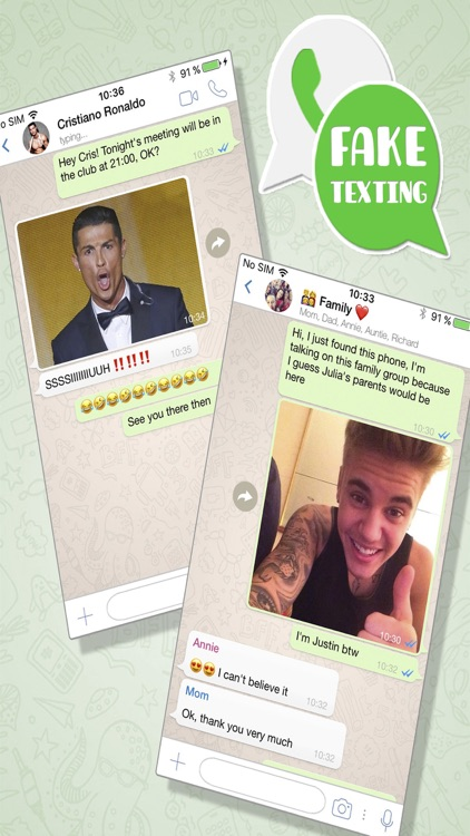 Fake texting conversations – Funny pranks chat by Belen Gonzalez