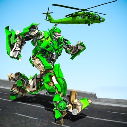 Helicopter War Robot