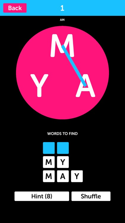 Pink Letters - Word Search Puzzle Game