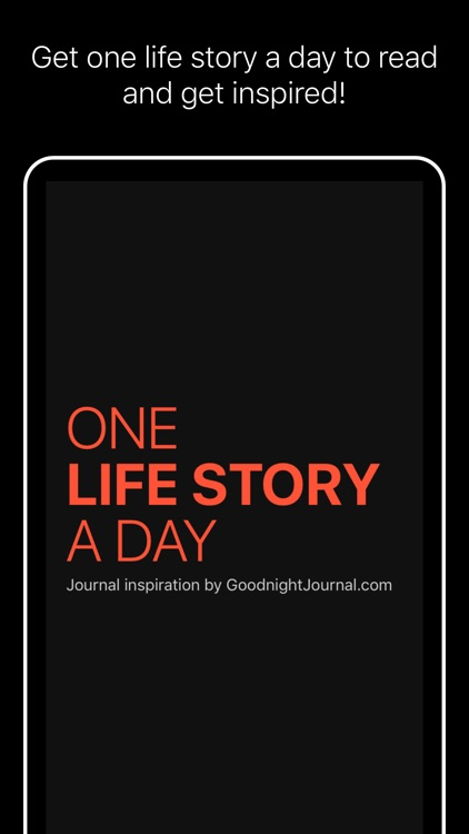 One life story a day