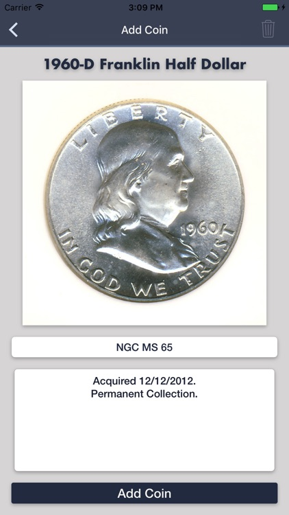 Franklin Half Dollars - Coin Collection Tracker screenshot-4
