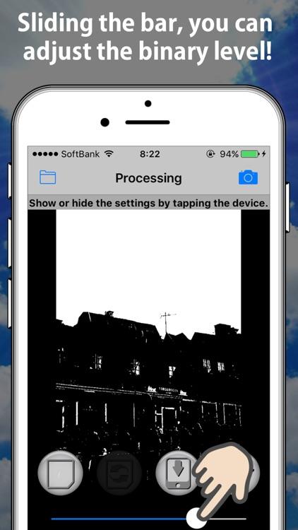 Easy binary photo effector