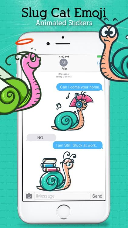 Animated Sluggish Cat Emoji screenshot-3
