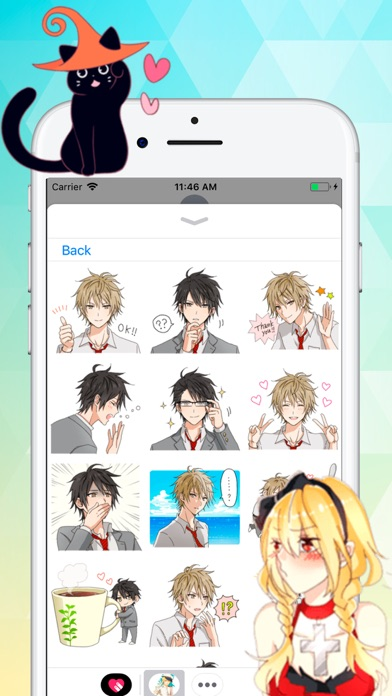Anime Love Stickers Screenshot