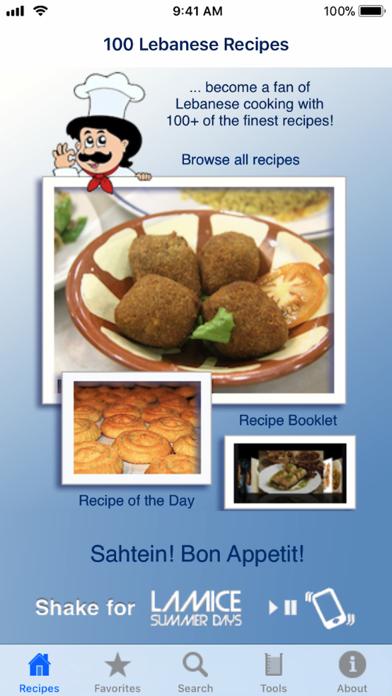 Screenshot for 100 Lebanese Recipes in Egypt App Store