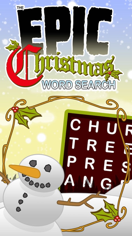 Epic Christmas Word Search – holiday wordsearch