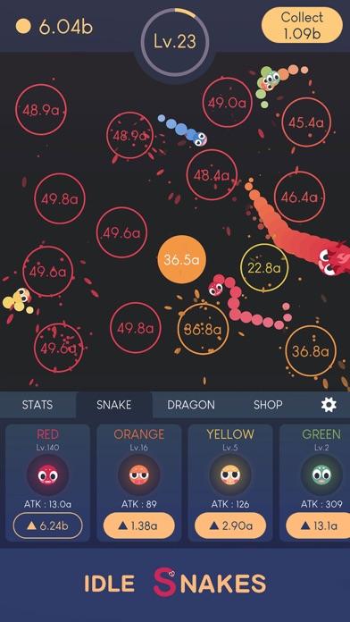 Idle Snakes-Control Balls Screenshot on iOS