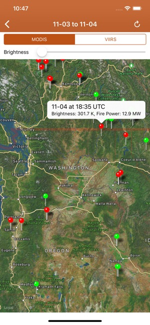 Fire Map Washington State 2017.Wildfire Info On The App Store