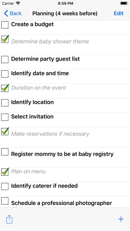 Baby Shower Checklist Pro