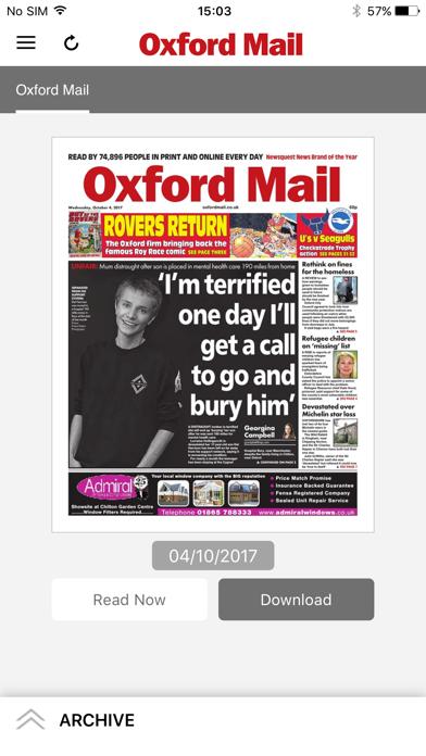 Oxford Mail screenshot one