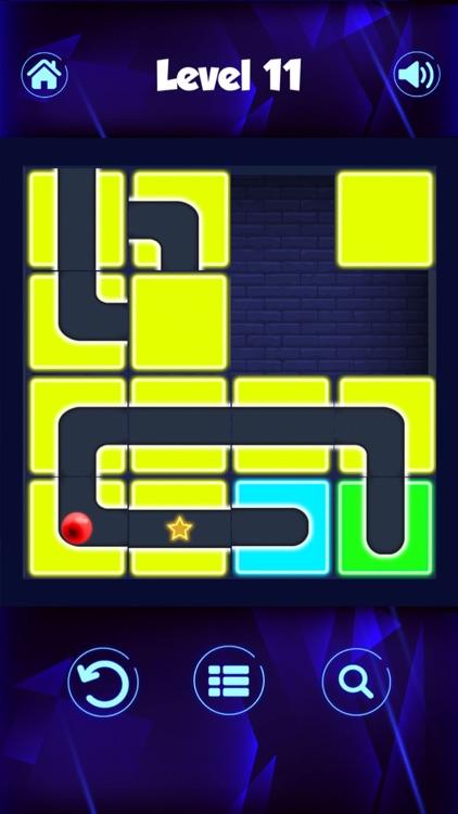 Classic Neon Slide Puzzle Game screenshot-3