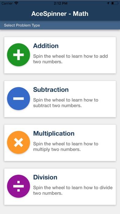 Ace Spinner Math Games Lite screenshot 2