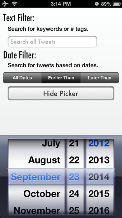 Tweet Cleaner - Delete Tweets Screenshot
