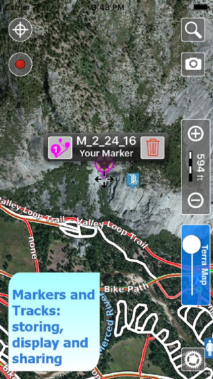 Yosemite NP Hiking Trails GPS screenshot-3