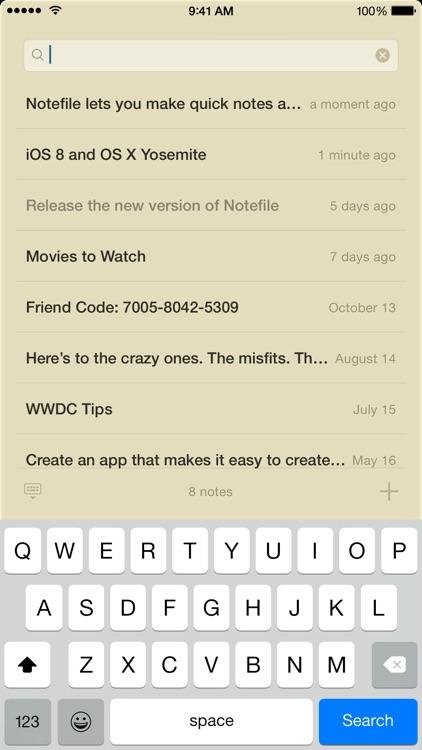 Notefile screenshot-4